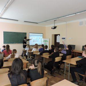 Відкритий урок на тему щеплення в школі № 55 для 6 класу