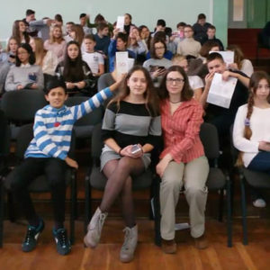 Лекція на тему щеплення для учнів школи №86 м.Одеси