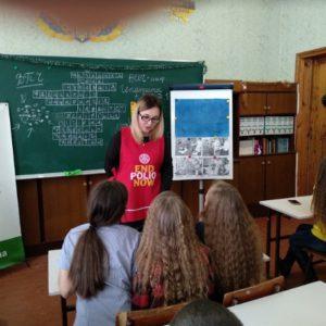 Лекція на тему щеплення проти поліомієліту в школі № 19 для 7Б класу